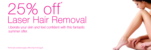 25% off Laser Hair Removal