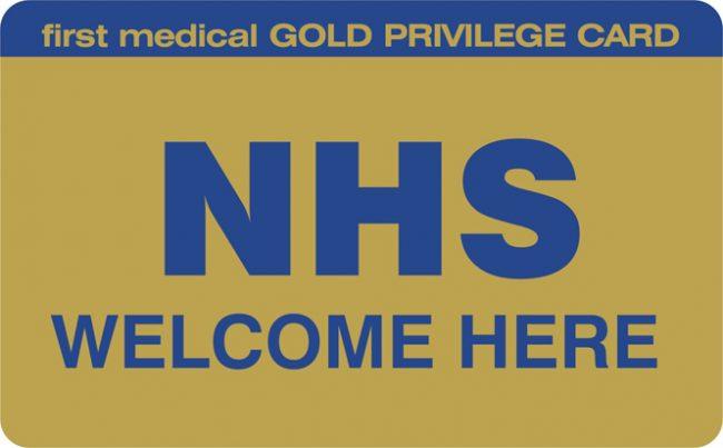 NHS Gold Card Logo 2011