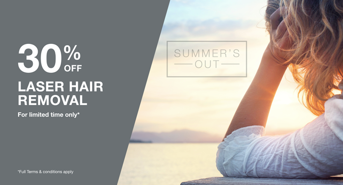 30% off Laser Hair Removal Treatments  We've said goodbye to summer and it now seems a distant memory but don't let the post holiday blues get you down! Miravue Skin Clinic has got an awesome offer this month to perk you right back up again!